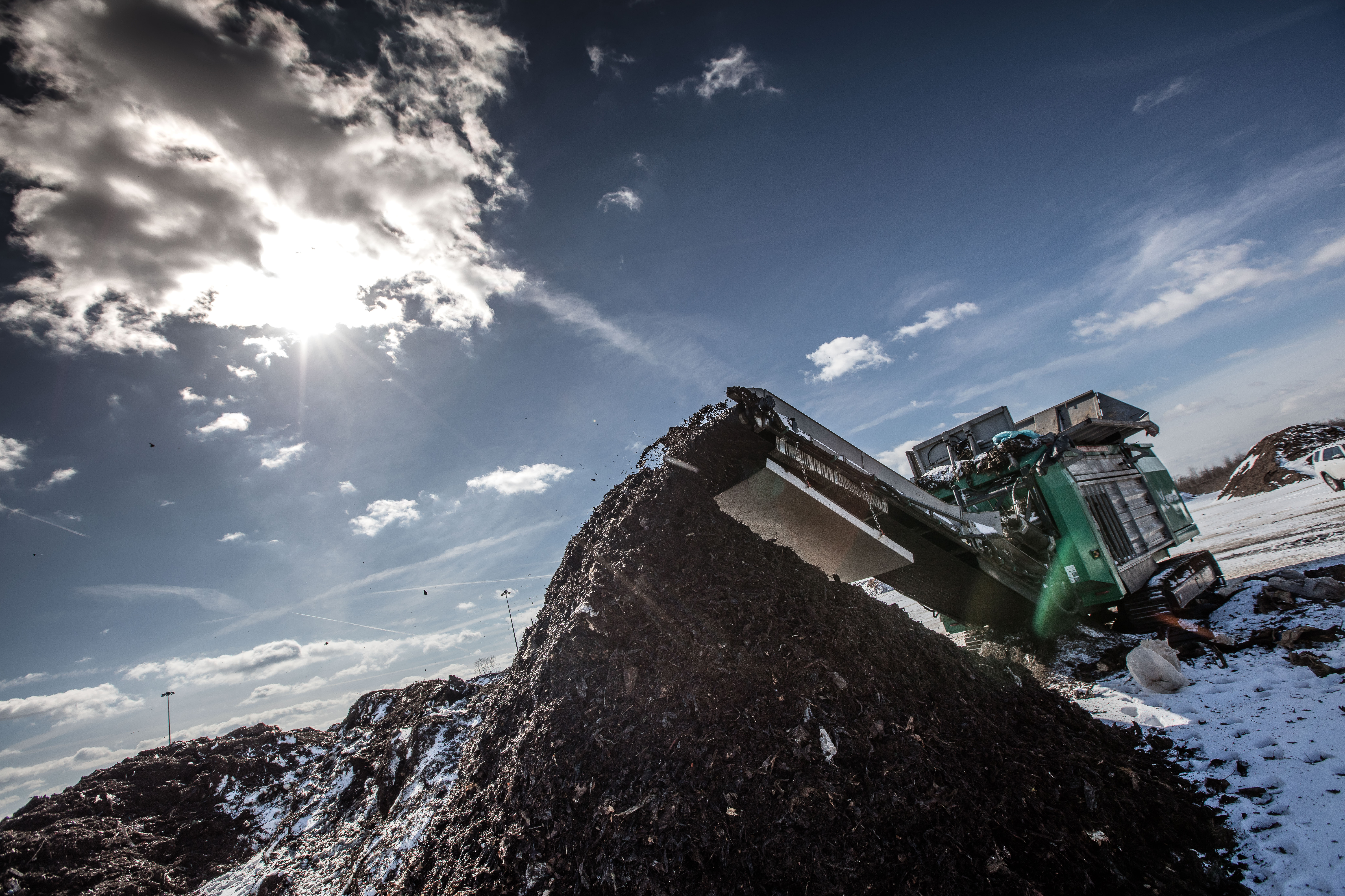 Leading Organics Managemnet Across the United States, Biomass being stacked up
